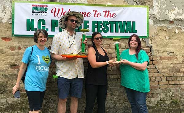 Pickle eating contest winners